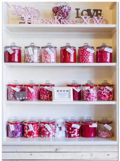 Kate Candy Bottle White Cupboard Red Sweets Backdrop for Children Photography - Kate backdrops UK