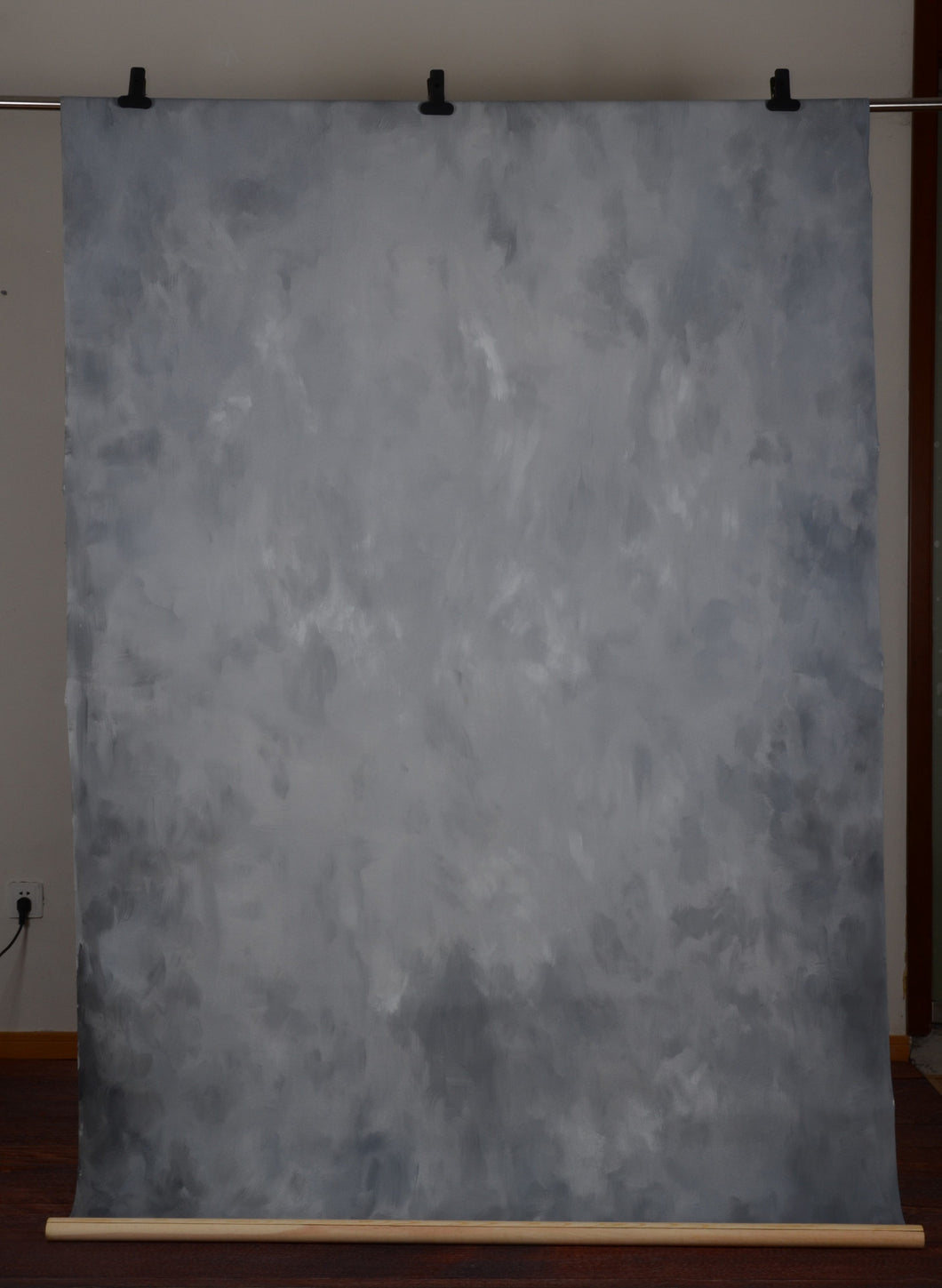 Kate Abstract Texture Dark Grey Black Spray Hand Painted Backdrops