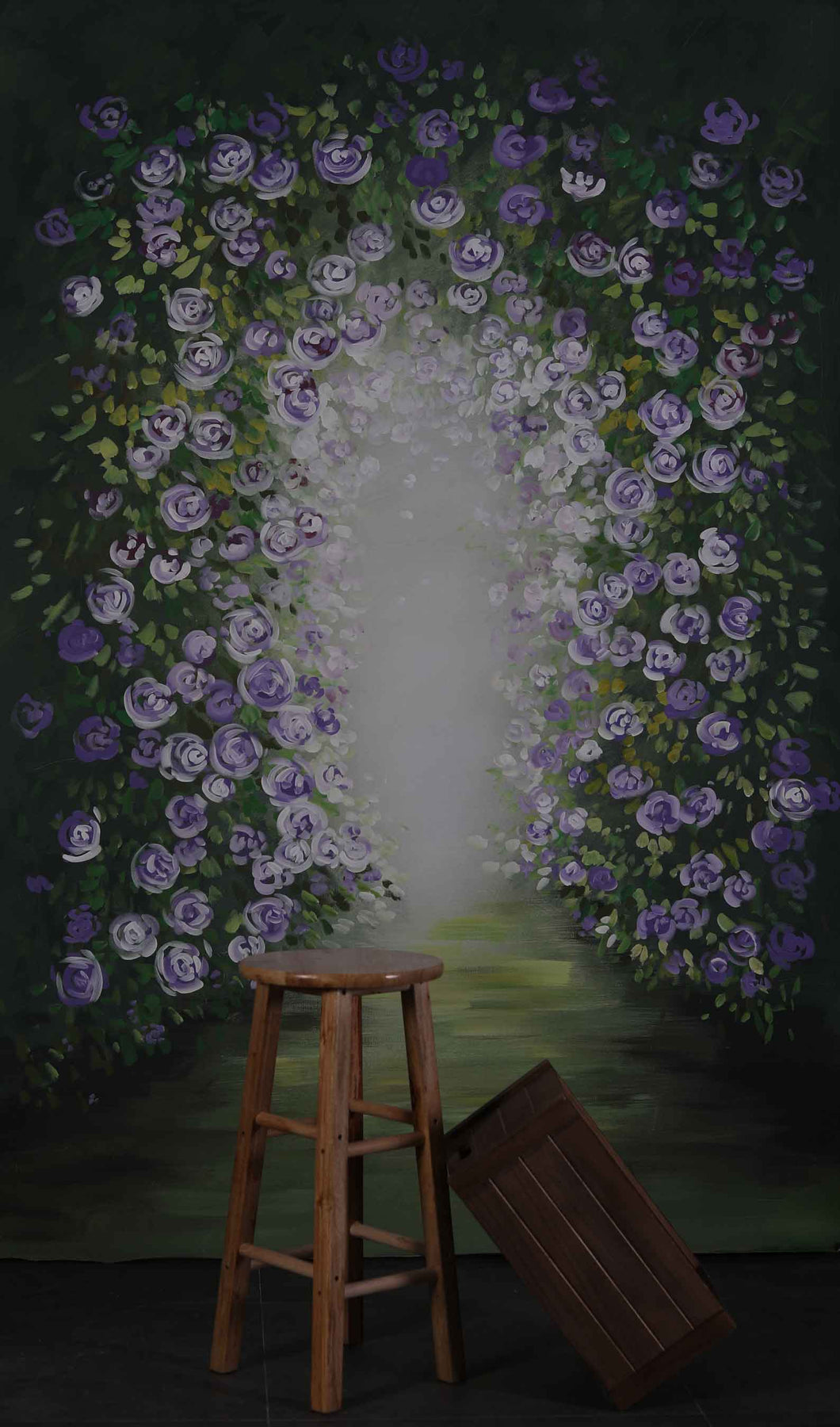 Kate Brick Flowers Spray Painted Backdrop - Kate backdrops UK