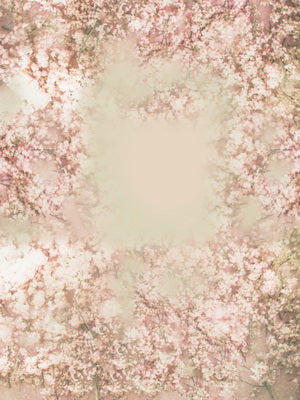 Pink Floral Pattern Spring Backdrop