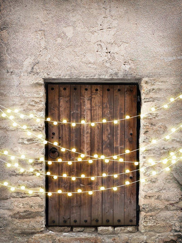 Kate Vintage Wall and Door with Lights Children Backdrop for Children Designed by JFCC