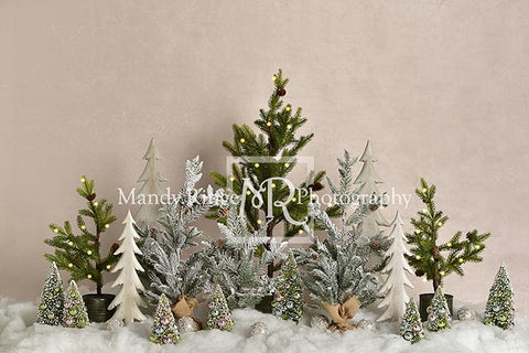 Simple Christmas Trees in Snow