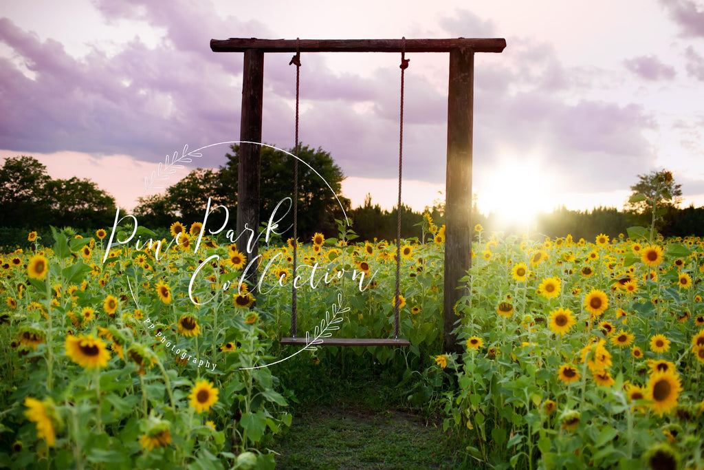 Kate Summer Sunflower Swing Backdrop Designed by Pine Park Collection
