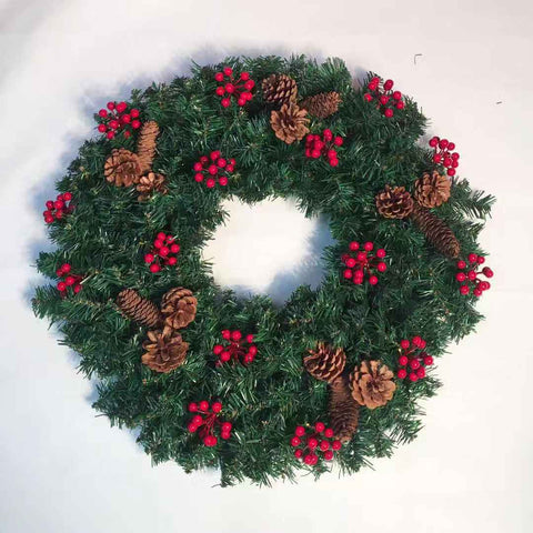 kate Christmas Wreaths Props 24 inches Winter Pine Garland for Front Door Photography