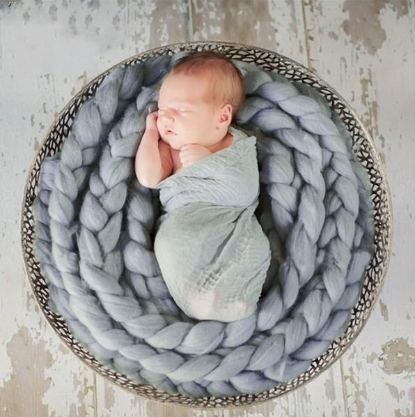 Load image into Gallery viewer, Basket Braid Wool Wrap Baby Photo Props for Newborn Photography - Kate backdrop UK