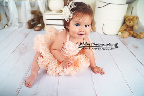 Kate Baby /Kids Teddy Bear Vintage Flower backdrop for photography
