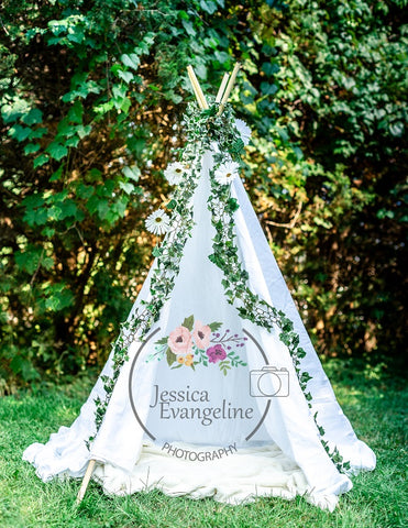 Kate White Tent Wedding Backdrop Designed by Jessica Evangeline Photography