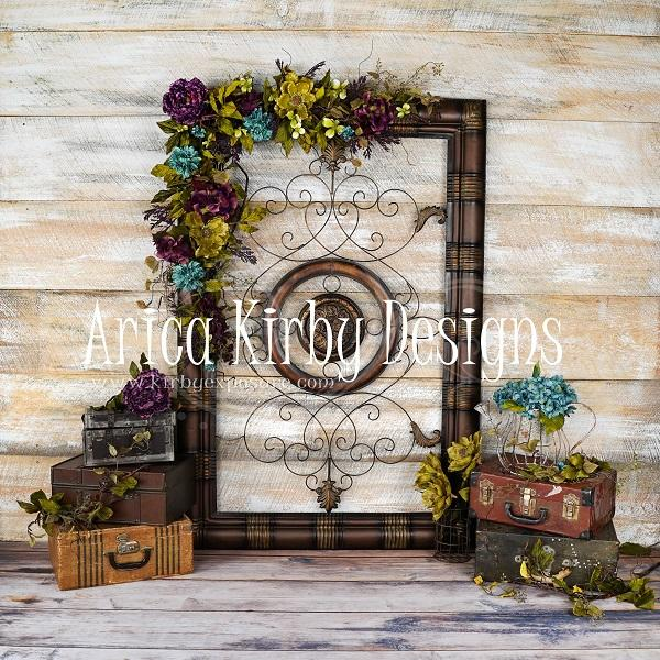 Load image into Gallery viewer, Kate Vintage Floral Traveler Backdrop designed by Arica Kirby