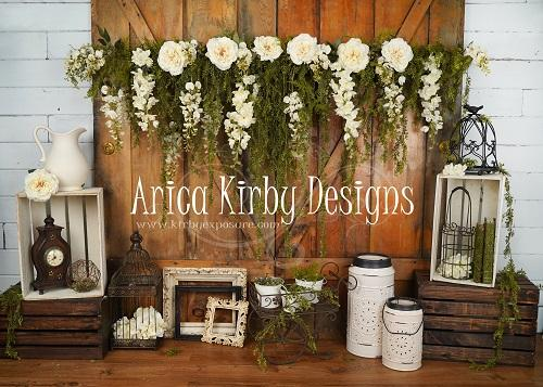 Load image into Gallery viewer, Kate Vintage Memories backdrop designed by Arica Kirby