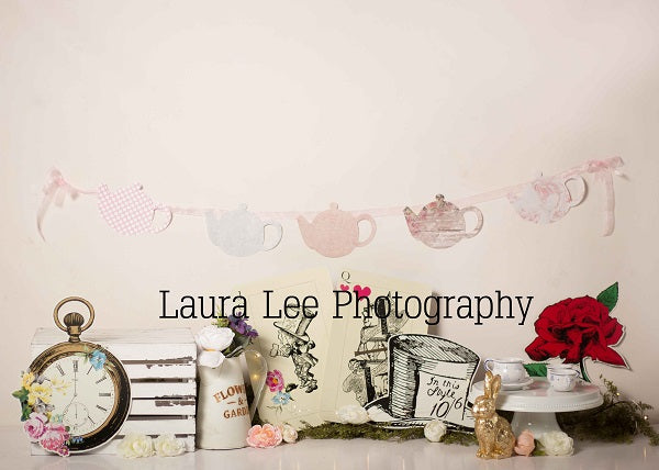 Vintage Tea Party Children Backdrop