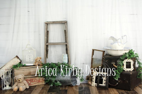 Kate Vintage Treasures Spring/Easter Backdrop designed by Arica Kirby
