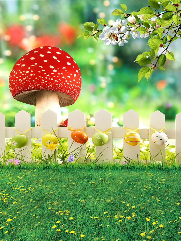 Kate Easter Backdrops Natural Scenery Spring Photography Background for Children Colorful Eggs Photo Background - Kate backdrops UK