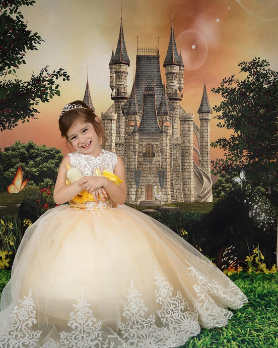 Kate Fairy Tale Backdrop Castle Forest Background for Photography