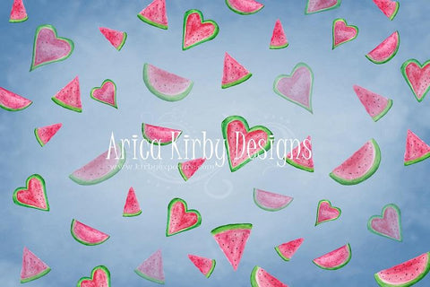 Kate Summer Watermelon Faded Love Backdrop designed by Arica Kirby
