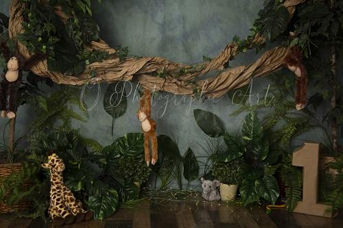 Kate Welcome to the Jungle Backdrop for Photography Designed by Jenna Onyia