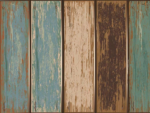 Kate Blue Green And Gray Wood Computer Printed Rubber Floor Mat - Kate backdrops UK