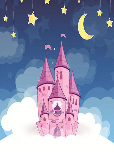 Kate Cartoon Star Prop Night Blue Backdrop Castle Background Photo - Kate backdrops UK