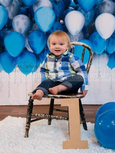 Kate Blue Balloon Photo Backdrops For Children Birthday Party Holiday - Kate backdrops UK