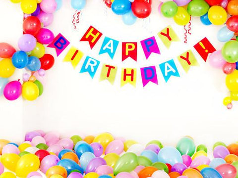 Katebackdrop£ºKate Birthday Colorful Balloons Photography Backdrops White Wall