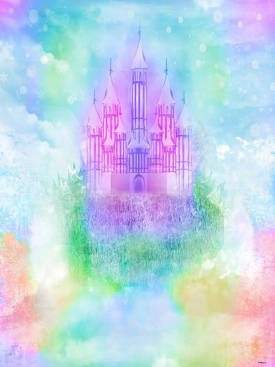 Katebackdrop£ºKate Abstract Purple Colored Castle Printed disney Newborn Backdrop