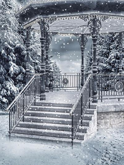 Katebackdrop:Kate Snow Scenery Snow Pavilion Photography Backdrops