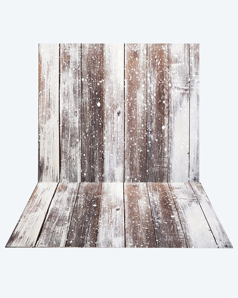 Kate Snow wood Photography +Brown snow wood floor mat