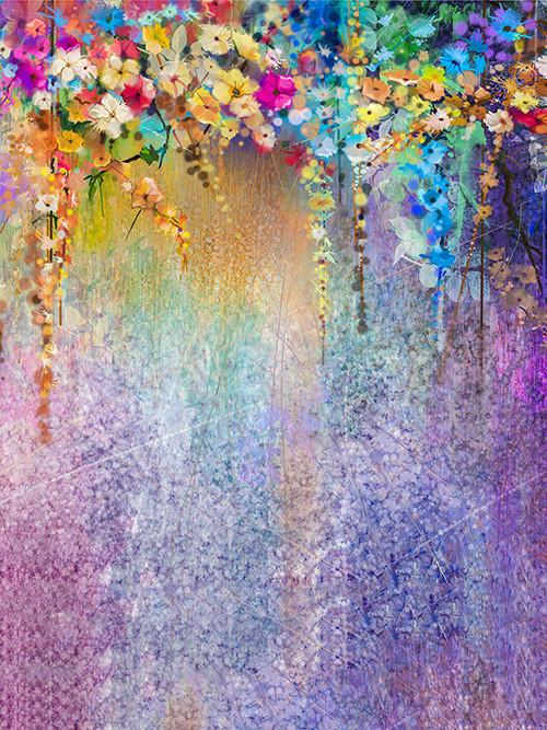 Katebackdrop:Kate Retro Style Colorful Oil Painting Photography Backdrop