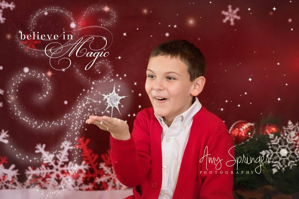 Load image into Gallery viewer, Kate Red Snowflake Marry Christmas Backdrop for Children