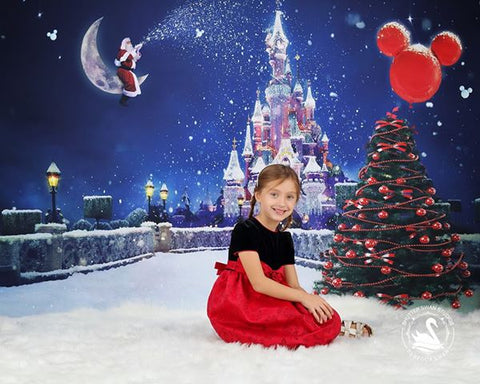 Kate Castle Santa Photo Backdrop For Christmas Children Photography - Kate backdrops UK