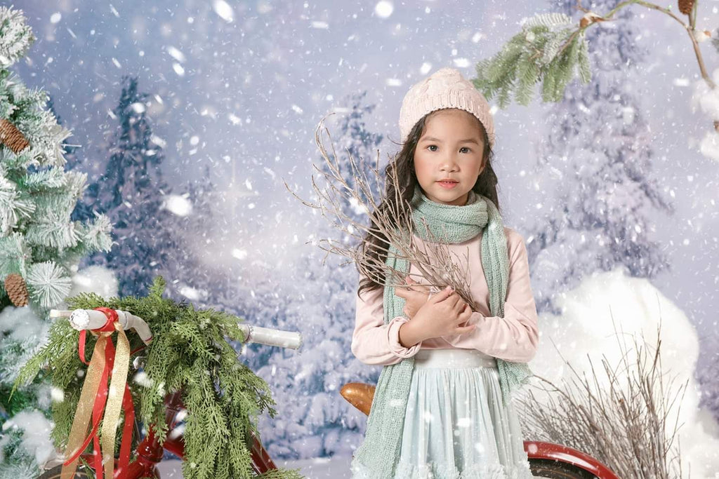 Kate Winter Snow Forest Backdrops For Photography