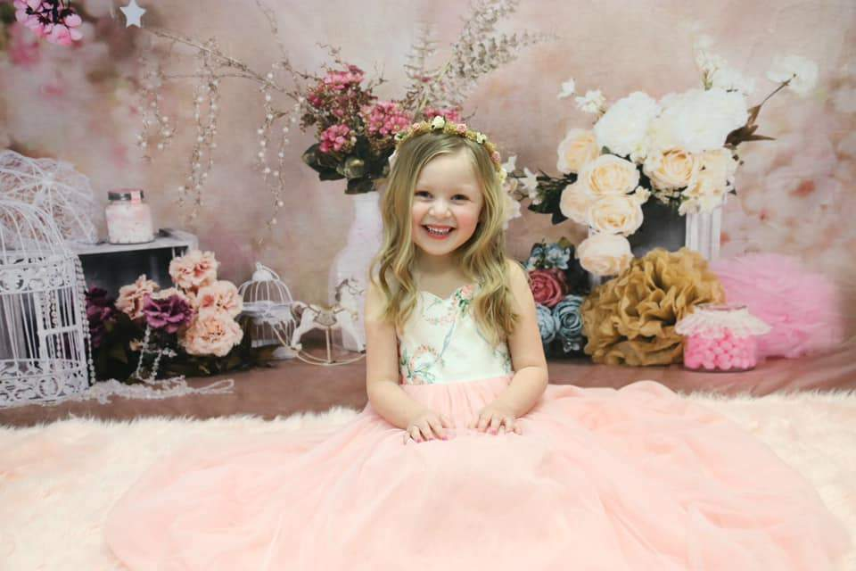 Kate floral antique pink for cake smash backdrop designed by Studio Gumot