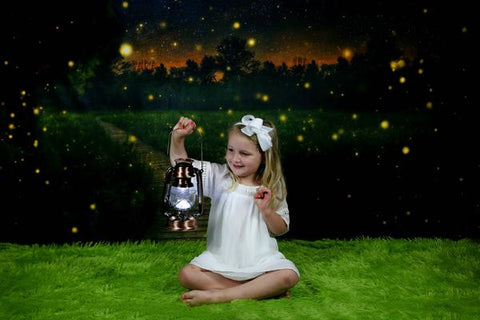 Kate Children Firefly field Backdrop for Photography Designed by Thousand Words Photography