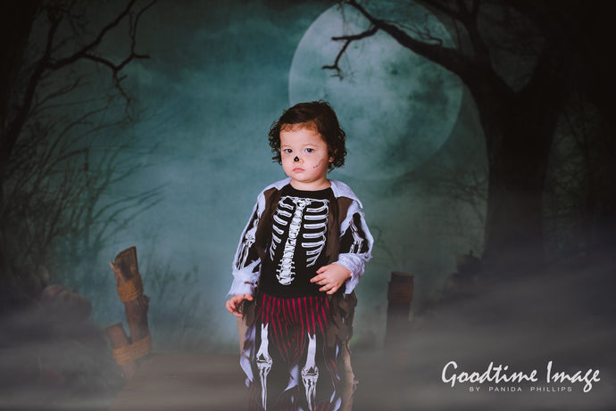 Kate Fantasy Halloween  Forest Night Moon Backdrops for Photography