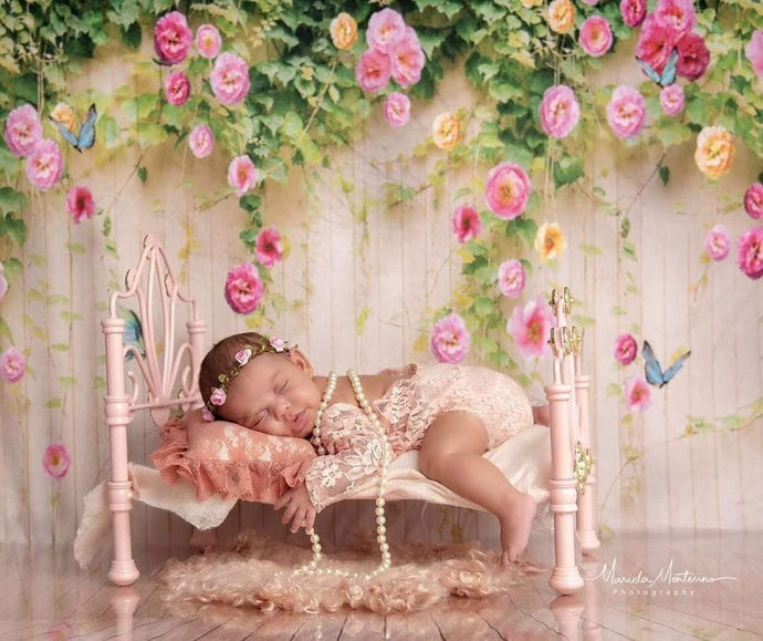 Kate Flower Wall Backdrop Wood Floral Background for photography