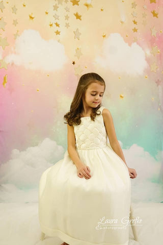 Kate Twinkle Golden Star Sky Cloud rainbow cake smash backdrop
