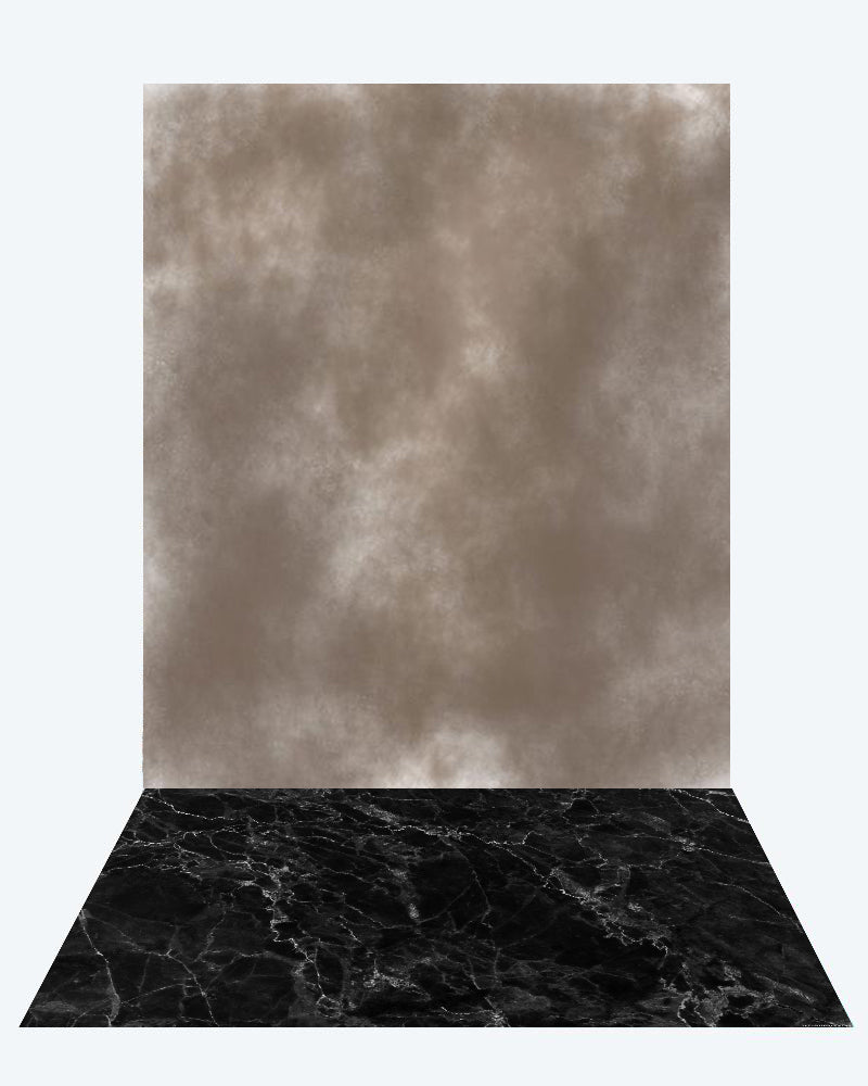 Kate Brown abstract texture backdrop + Marble Abstract floor mat - Kate backdrops UK