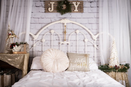 Christmas Headboard Mattress Backdrop