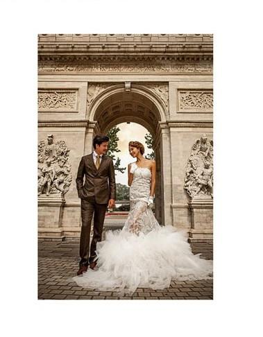 Load image into Gallery viewer, Katebackdrop£ºKate Arch European Style Castle Brick Floor Wedding Backdrop