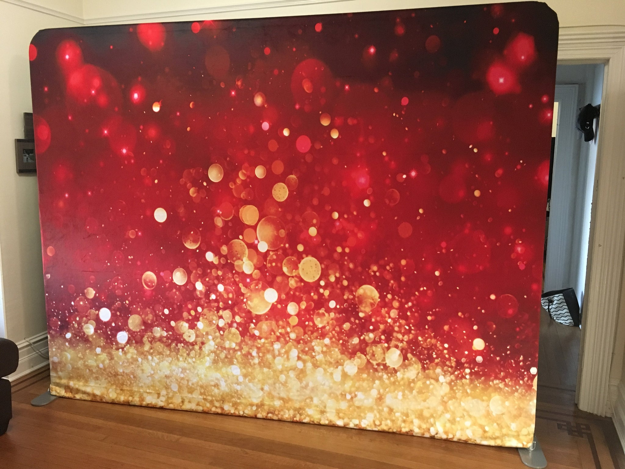 Load image into Gallery viewer, Katebackdrop£ºKate Bokeh Christmas Festival Party Photography Backdrop Red Glittering Holiday