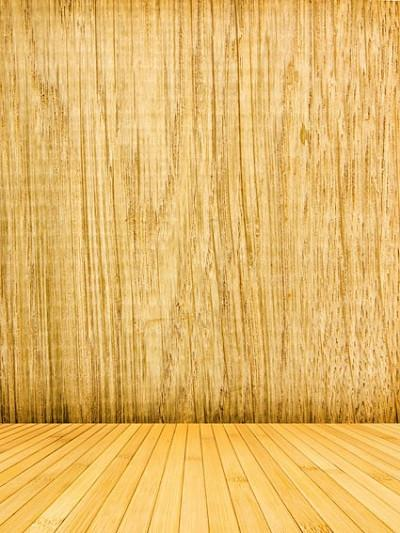 Katebackdrop£ºKate Yellow Wood Wall Floor Photography Backdrop