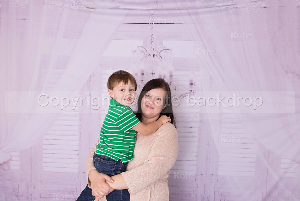Katebackdrop£ºKate Wedding White Curtain Wood Wall Photography Backdrop