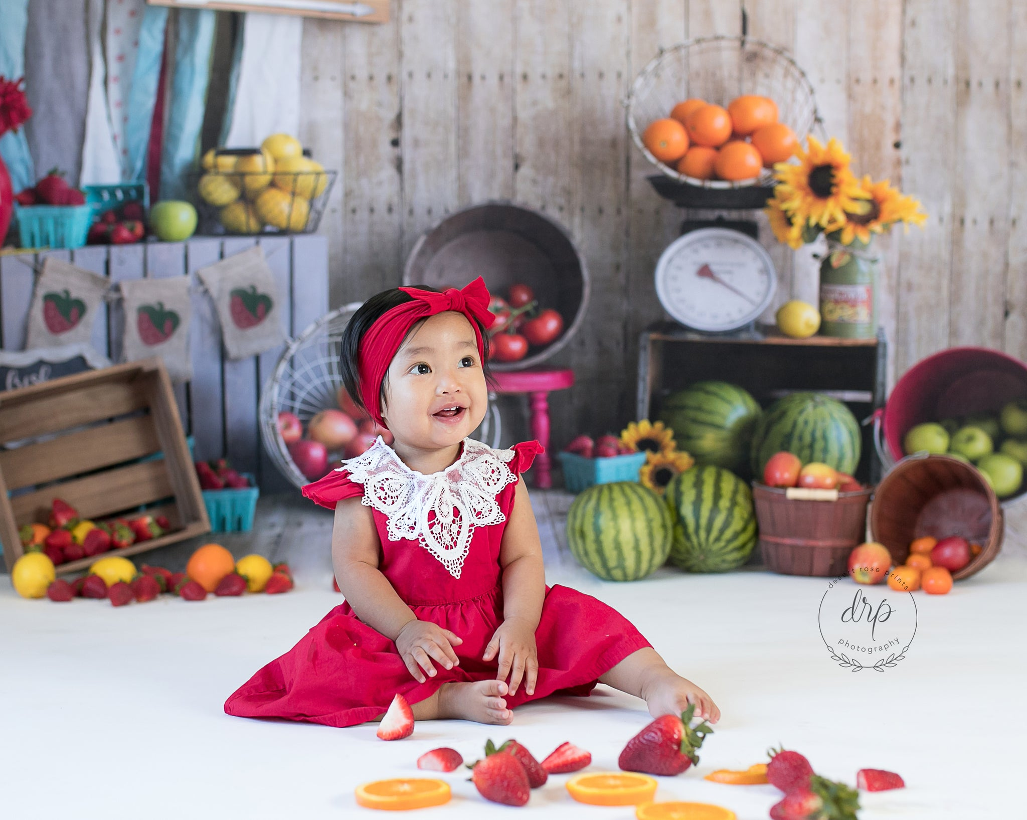 Load image into Gallery viewer, Kate Summer Farmers Market Backdrop for Photography Designed by Danette Kay Photography
