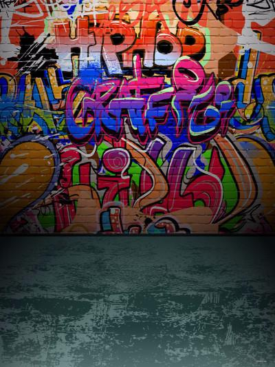 Kate 300x300cm Brick Wall Graffiti Custom Backdrops children Backdrops For Photo Studio