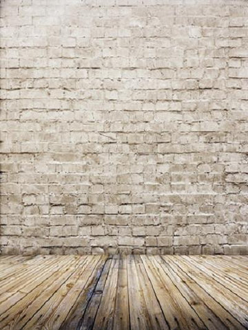 Katebackdrop:Kate Gray Brick Wall Gray Wood Floor Backdrop Photo Wooden