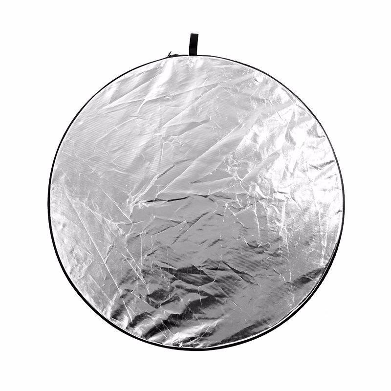 "Load image into Gallery viewer, 2-In-1 Light Round Photography Reflector Studio Photo Disc 24"" 60Cm - Kate backdrops UK"