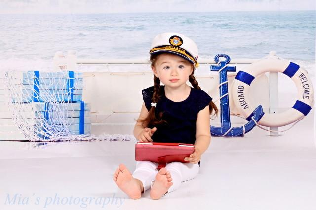 Load image into Gallery viewer, Kate Beach Clouds Sea Background Background for Studio Baby Photos - Kate backdrops UK