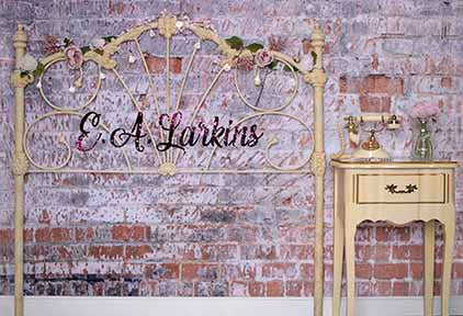 Kate Romantic headboard And Table Backdrop for Photography Designed by Erin Larkins