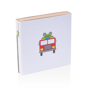 fire truck kids gift box that is eco-friendly for plastic free living