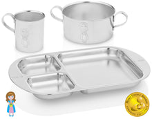 Load image into Gallery viewer, stainless steel dinner set princess