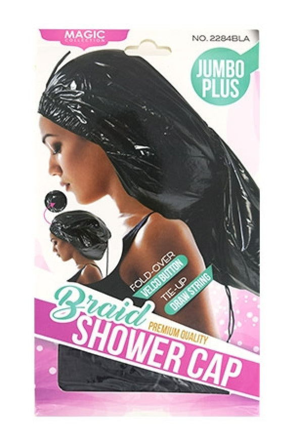 Magic Collection #2284BLA Shower Cap (Braid Jumbo)